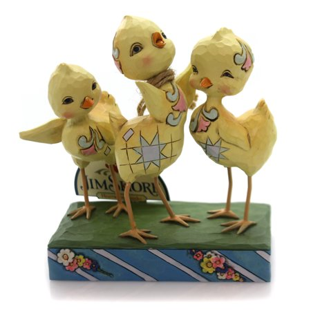Jim Shore Spring - Jim Shore HOORAY FOR SPRING Polyresin Trio Of Chicks Easter 6001077
