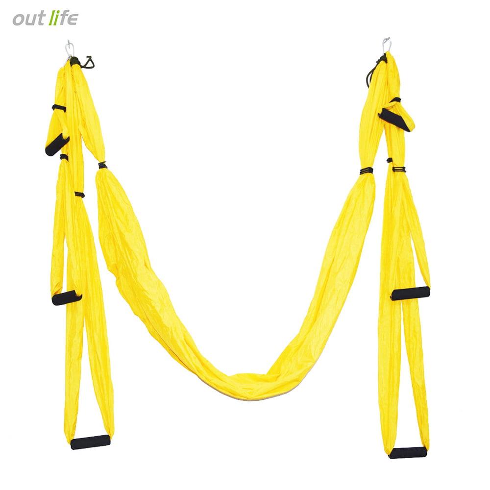 Aerial Yoga Swing, Ultra Strong Antigravity Yoga Hammock/Trapeze/Sling for Antigravity Yoga Inversion Exercises, Azure