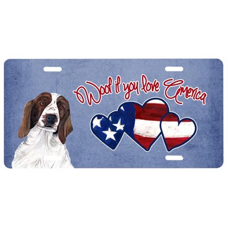 Springer Spaniel License Plate (Woof if you love America Welsh Springer Spaniel License Plate SC9949LP)