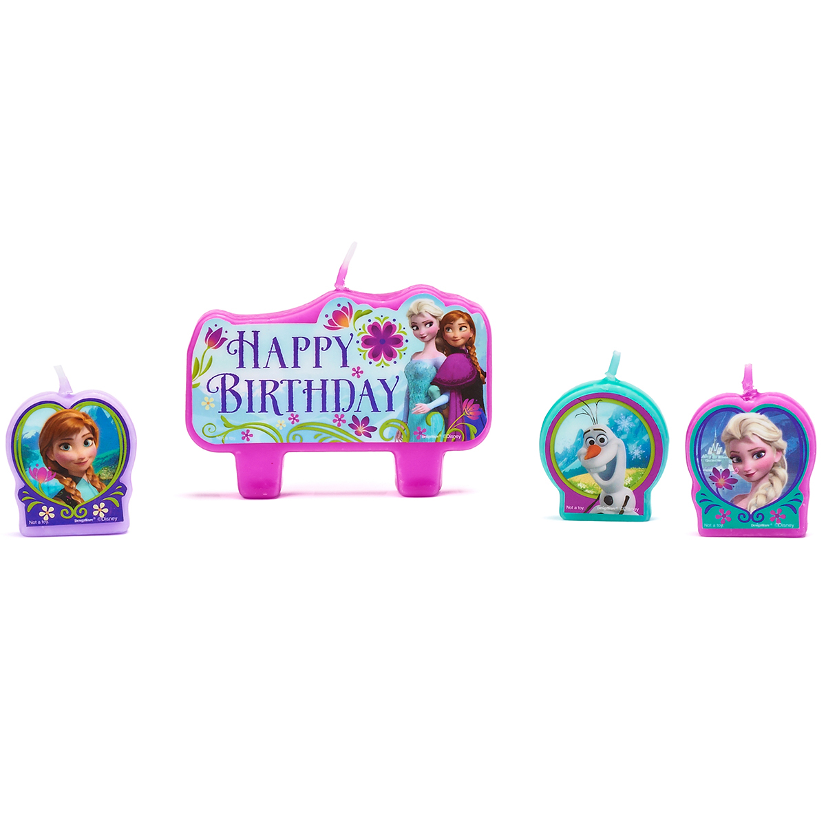 Frozen Candle Set Birthday Party Candles, 4ct