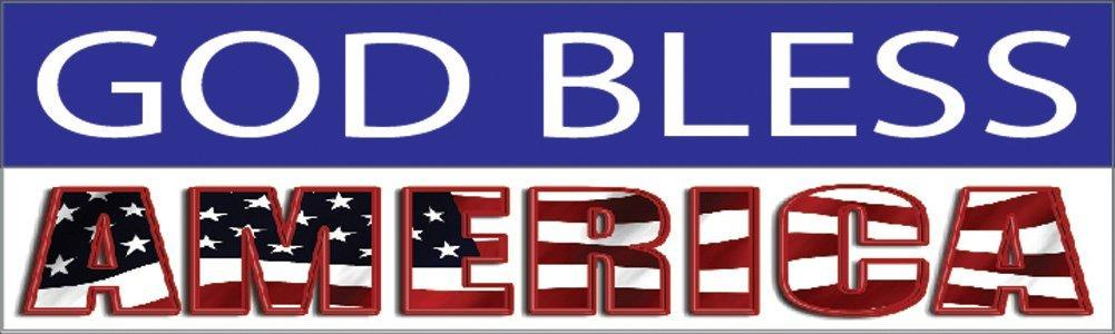 10x3 Patriotic Bumper Sticker Auto Decal USA Flag America Freedom God Bless America (God Bless America) - by Rogue River Tactical