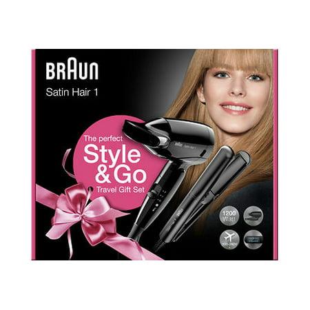 Braun Travel Pack Straightener & Hair Dryer World Wide