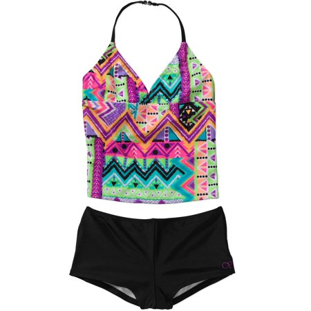 Op girls 39 travel bug tankini swimsuit for Travel swimsuit
