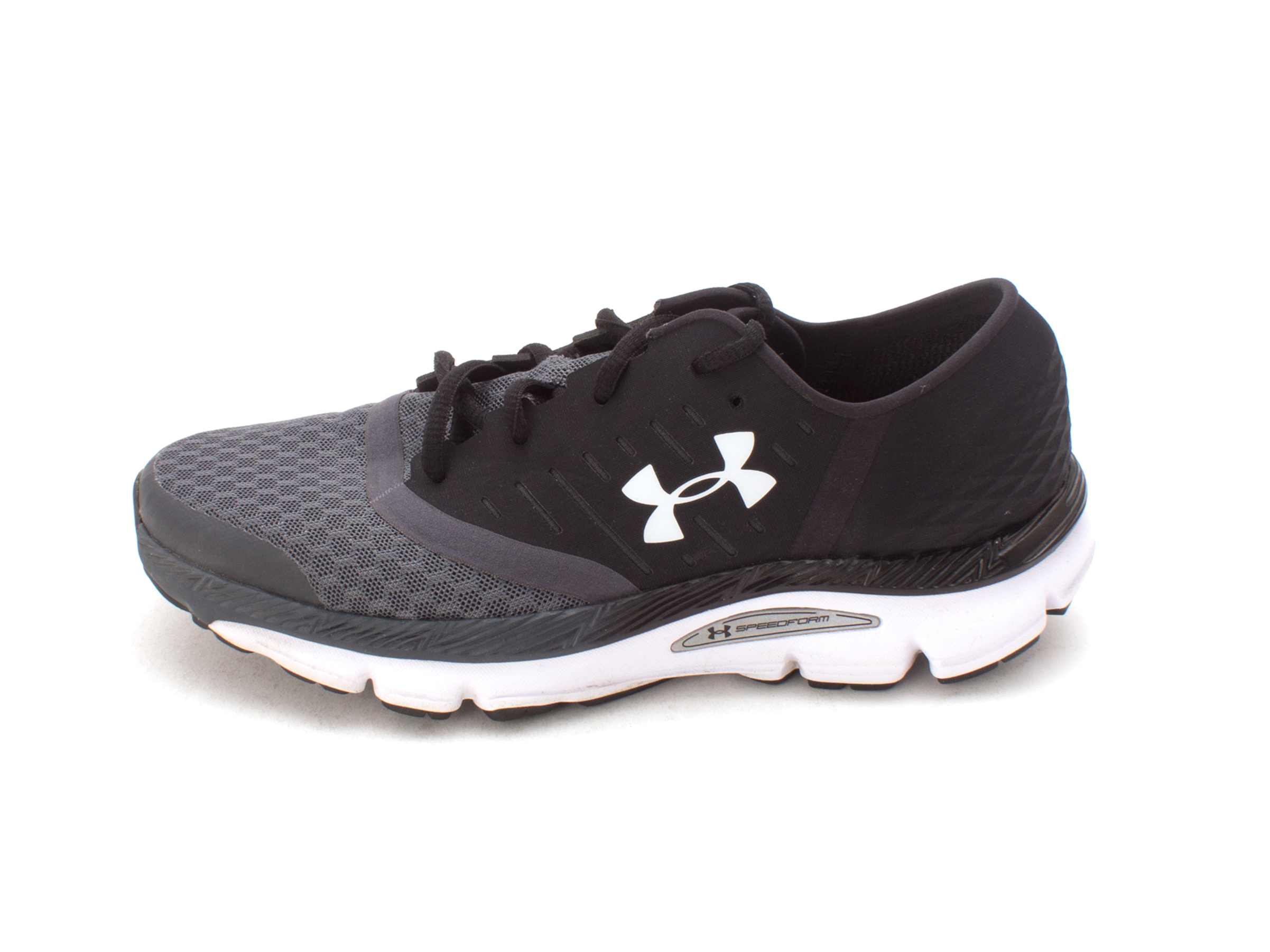Under Armour Womens Speedform intake Low Top, Black/grey/white combo, Size 7.5