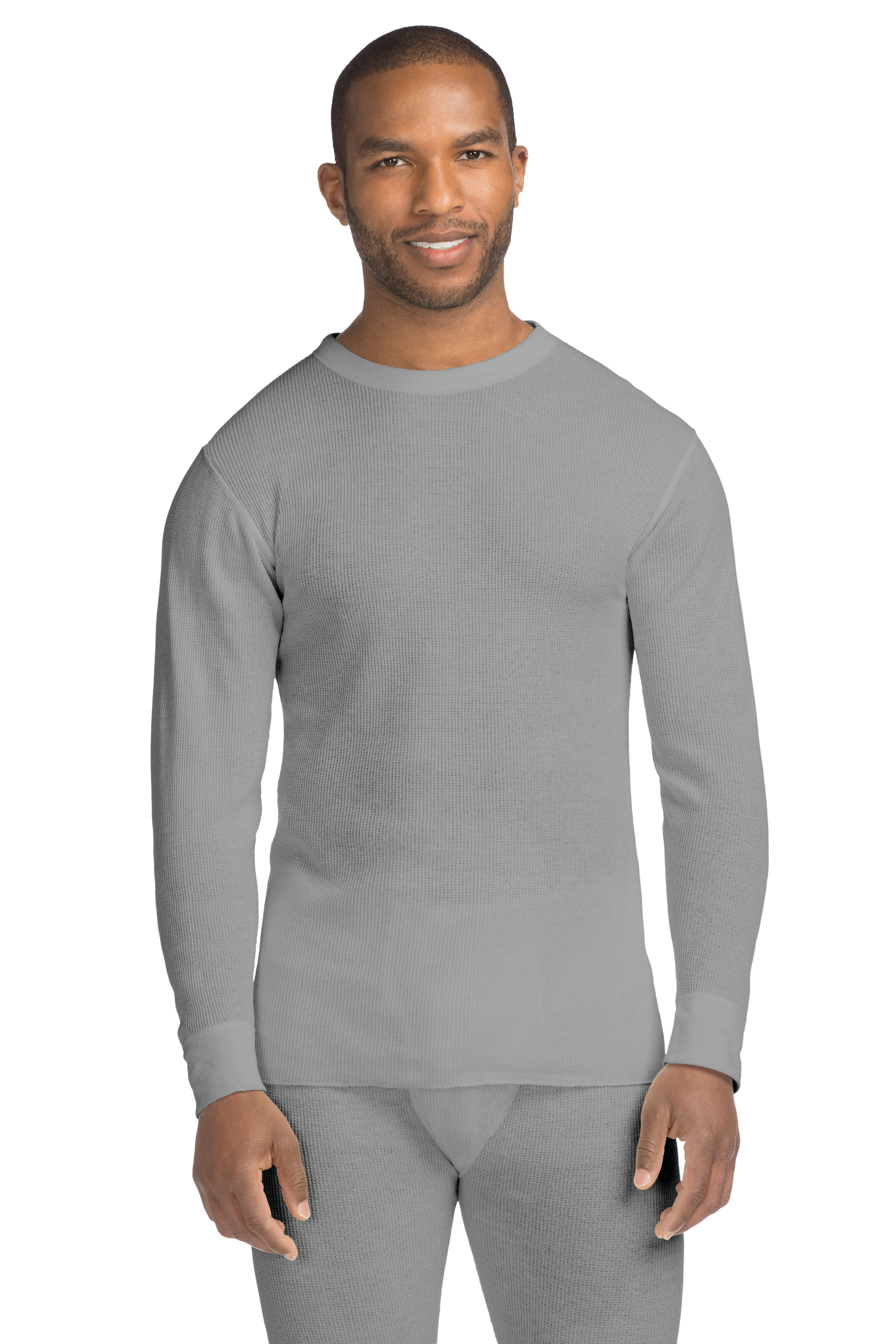 Hanes Men's X-Temp Thermal Waffle Crew with FreshIQ