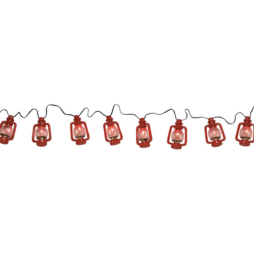 Rivers Edge Products 10' Jumbo Red Oil Lantern Party Light Set by Rivers Edge Products