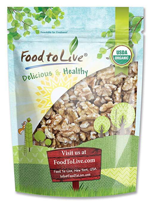 Food To Live Organic Walnuts (Raw, No Shell) (7.5 Pounds)