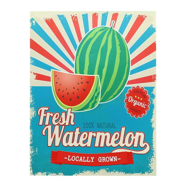 Barnyard Designs Fresh Locally Grown Watermelon Retro Vintage Tin Bar Sign Country Home Decor 10 X 13 Nbsp Walmart Com Walmart Com
