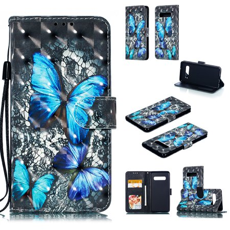 Galaxy S10 Plus Case, Galaxy S10 Plus 2019 Case, Allytech 3D Emboss PU Leather Flip Protective Wallet Stand Cover & Credit Card Slots Pocket for Samsung Galaxy S10 Plus (6.4