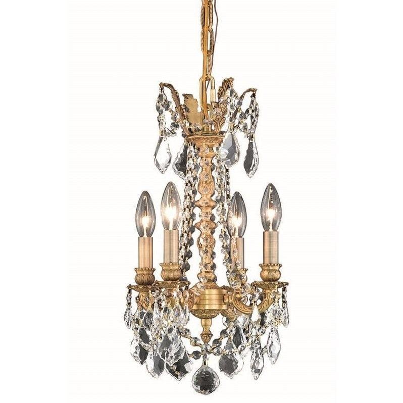 "Elegant Lighting Rosalia 13"" 4 Light Elegant Crystal Chandelier - image 1 de 1"