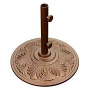 Island Umbrella 50-lb Art Deco Aluminum Umbrella Base in Bronze