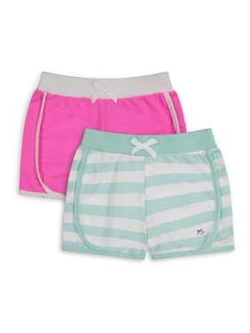 Limited Too Girls Stripe and Solid Dolphin Shorts, 2-Pack, Sizes 4-16