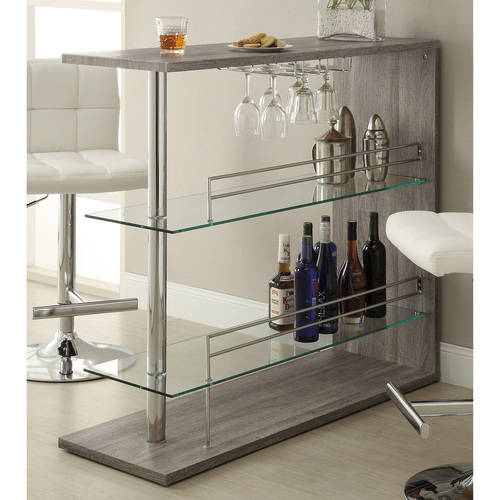 Beau Coaster Contemporary Bar Storage Table, Multiple Finishes   Walmart.com