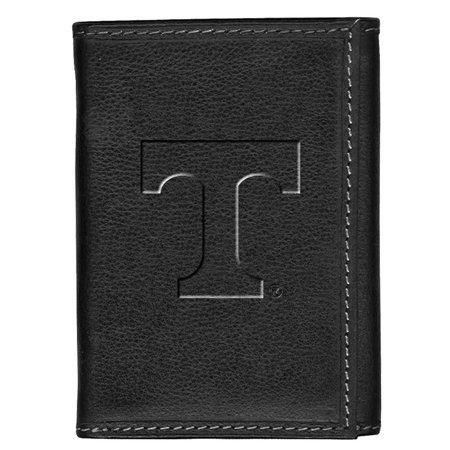 Tennessee Volunteers Vols UT Leather Tri-Fold Wallet Black Trifold Leather Tennessee Titans Tri Fold Wallet