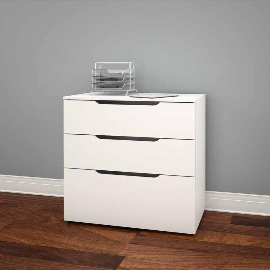 Nexera Arobas 3-Drawer Filing Cabinet, White