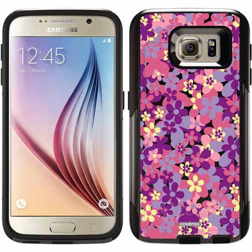 Flower Power Purple Design on OtterBox Commuter Series Case for Samsung Galaxy S6