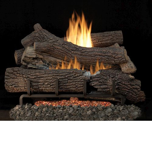 "Outdoor Giant Timbers 24"" Gas Logs with Stainless Steel Millivolt - NG"