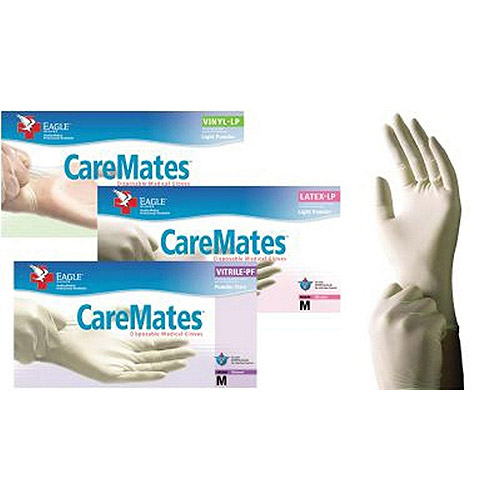 Caremates Vytrile Disposable Medical Exam Gloves Latex + Powder Free Medium - 100ct