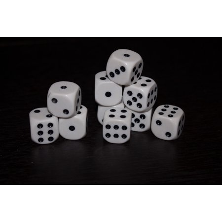 LAMINATED POSTER Dice Black Random You Say Cube Good Luck Game Poster Print 24x36 Decal - Good Luck Charlie Halloween Games