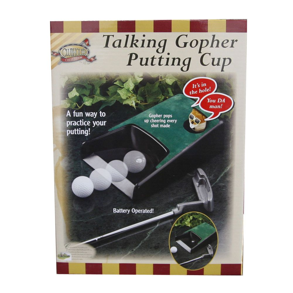 Clubhouse Collection Talking Gopher Putting Cup NEW