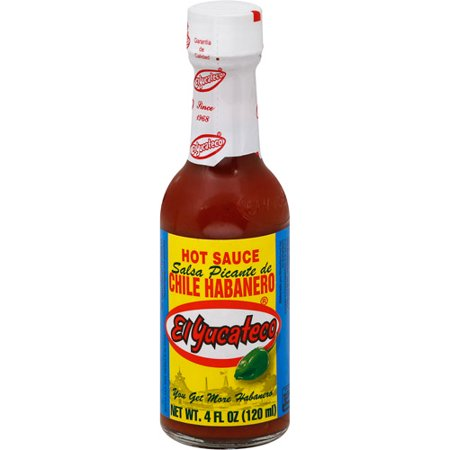 El Yucateco Red Habanero Hot Sauce, 4 oz (Pack of 12 ...
