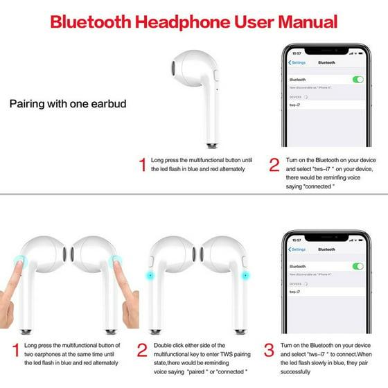 Wireless Bluetooth Earbuds Headphones Stereo In-Ear