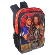 WWE 16 inch Kids School Backpack with Side Mesh Pockets for Boys