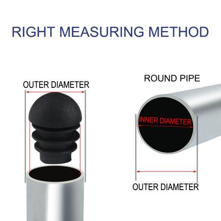 "5/8"" 16mm OD Plastic Domed Tube Inserts Cover Caps 10pcs, 0.47""-0.55"" Inner Dia - image 1 de 7"