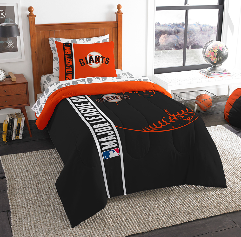 San Francisco Giants MLB Twin Comforter Bed in a Bag (Soft & Cozy) (64in x 86in)