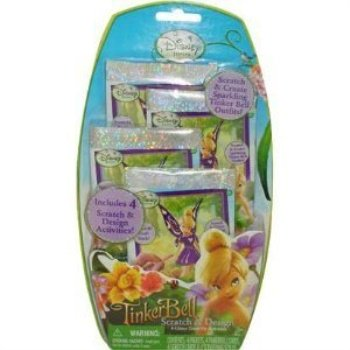 tinker bell scratch and design activity books, 4ct (Tinkerbell Arts And Crafts)