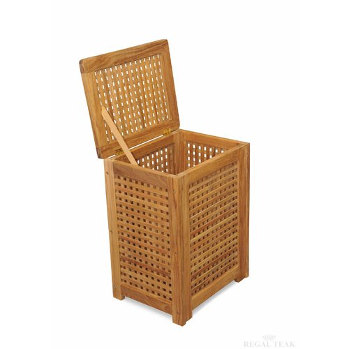 Regal Teak Cabinet Laundry Hamper