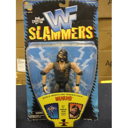 Wrestling Mankind Slammers Series 1 Action Figure 1998 Jakks WWE, 1998 out of production figure By WWF From USA (Wwe Mankind)