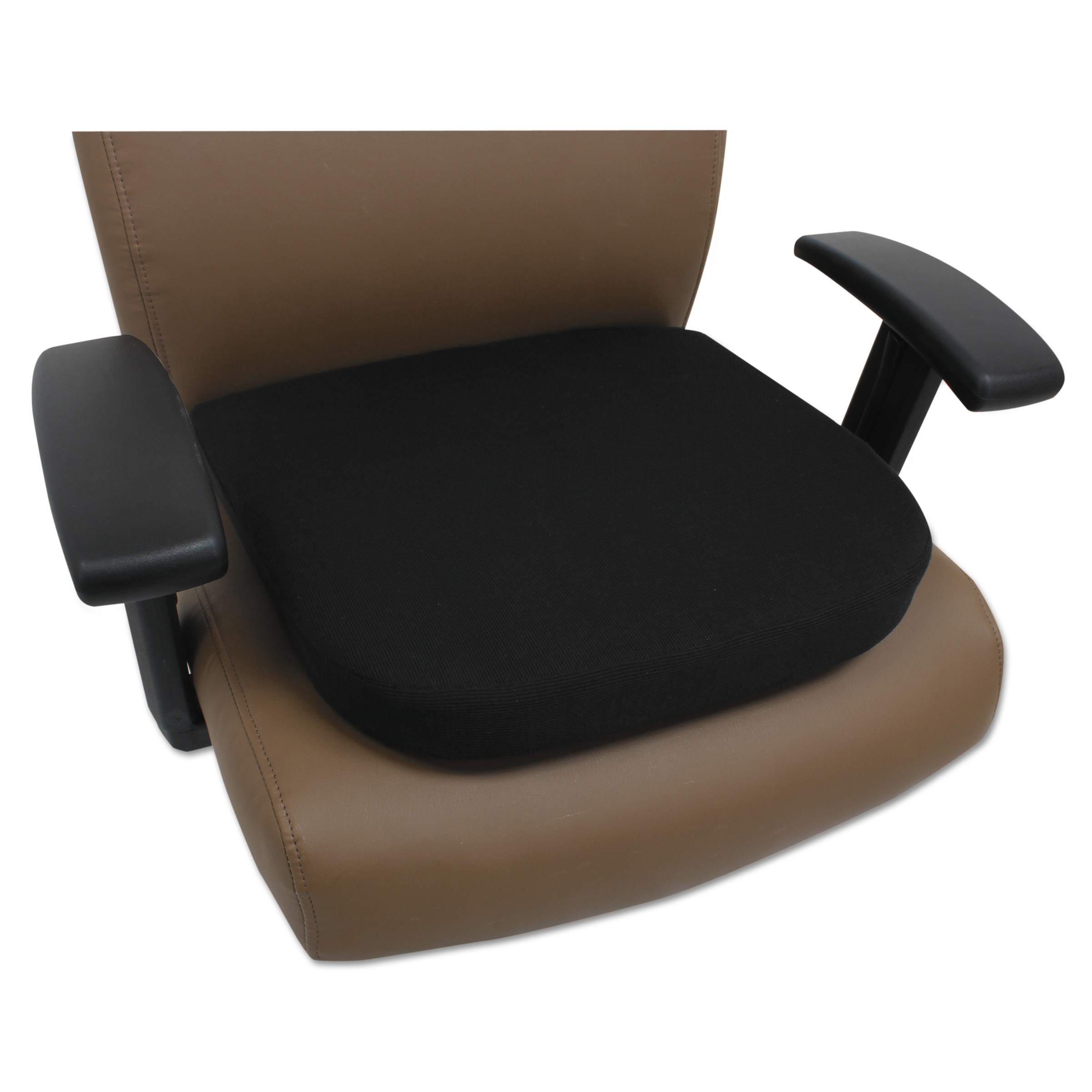 Alera Cooling Gel Memory Foam Seat Cushion, 16 1/2 x 15 3/4 x 2 3/4, Black