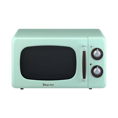 0.7 Cu Ft 700 Watt Countertop Microwave in Mint Green