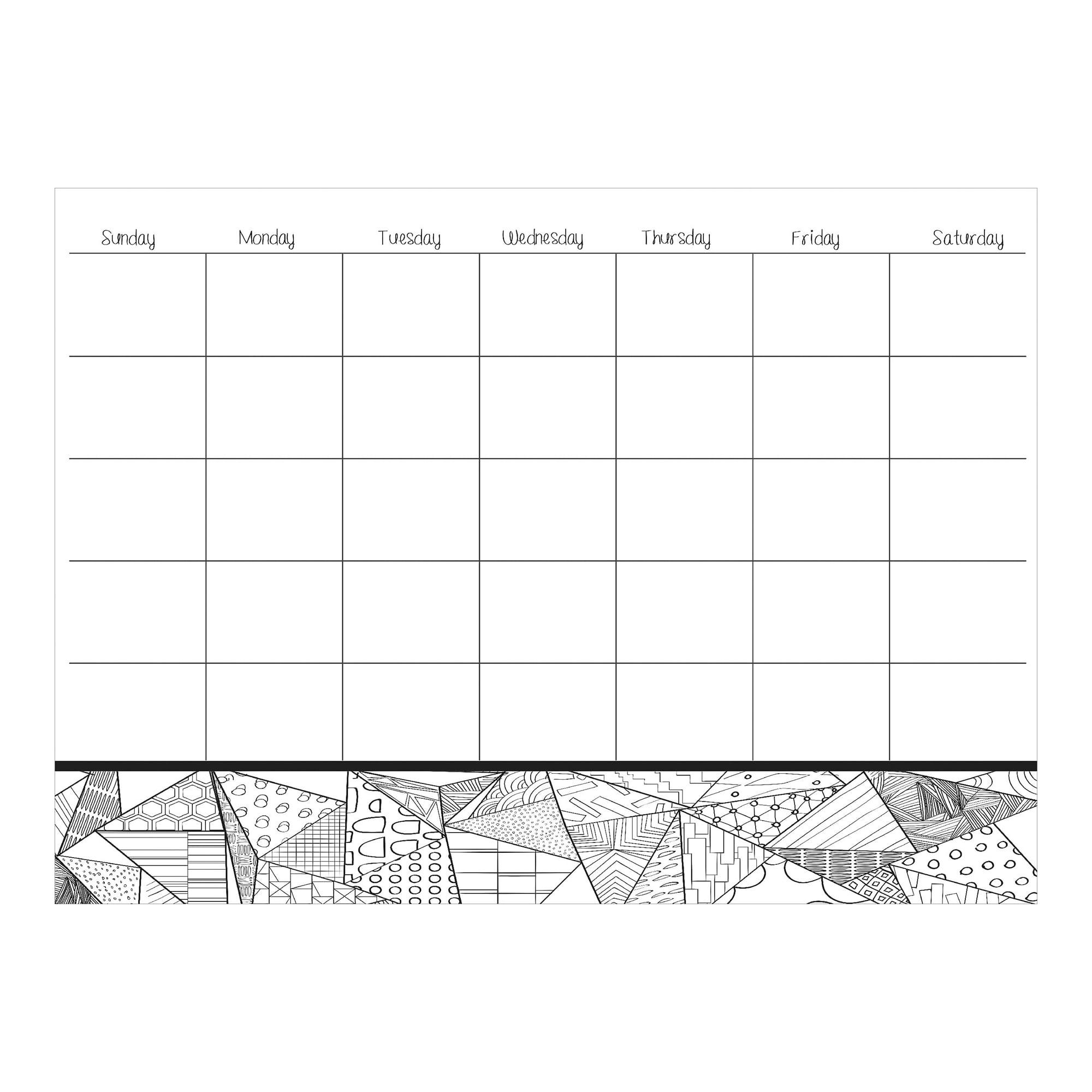 WallPops Obelisk Coloring Calendar Decal