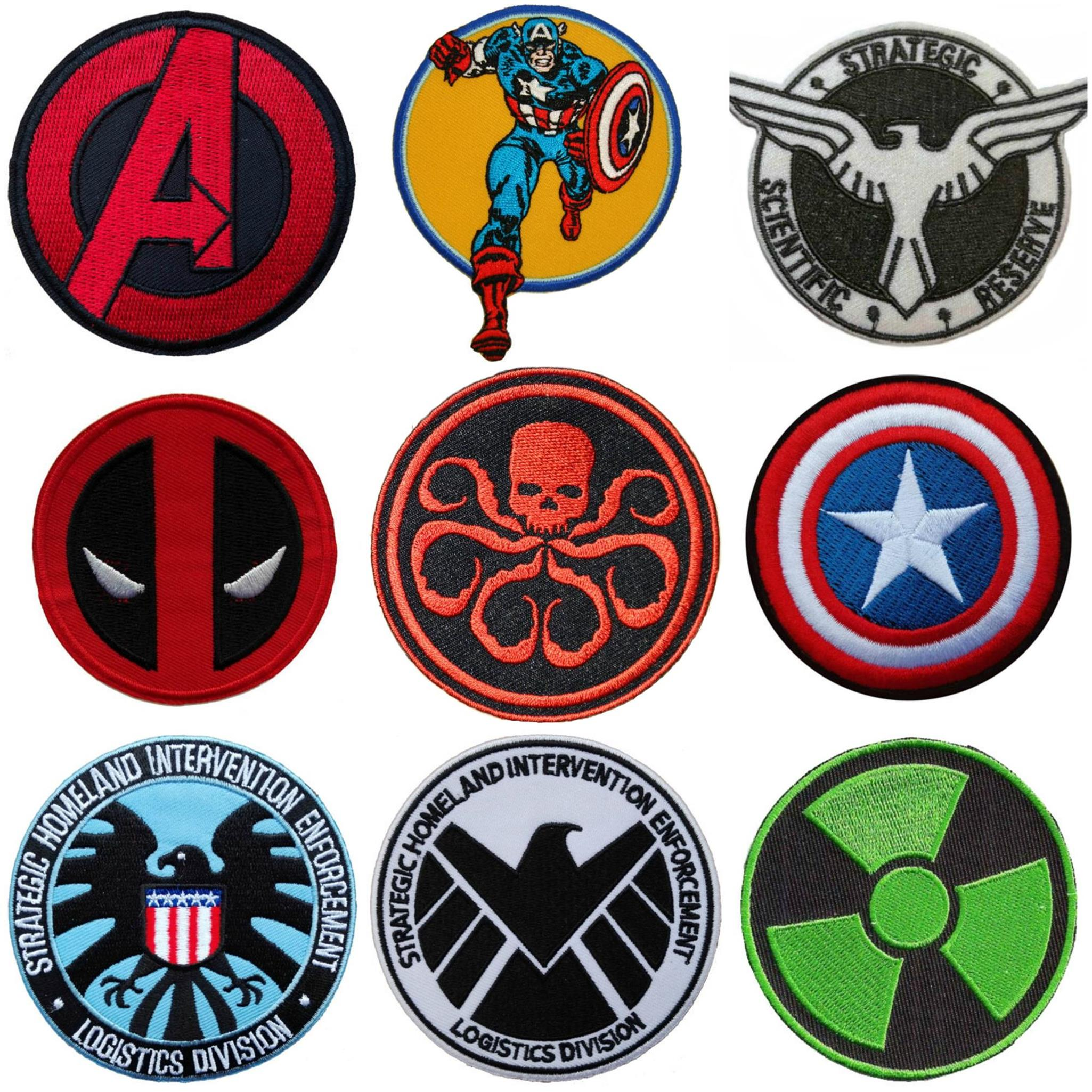 Comic Character collection badges Iron or Sew on Embroidered patches