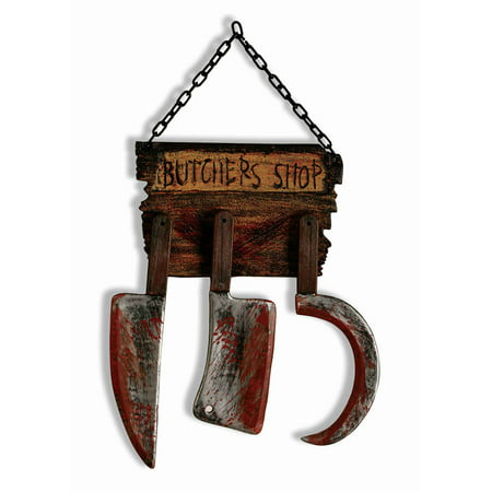 Butcher Shop Sign Halloween Prop - Halloween Run Through Signs