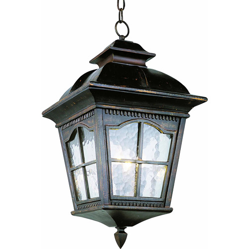 "Belair Lighting Bostonian 21"" Outdoor Pendant Handing Lantern, Rust"