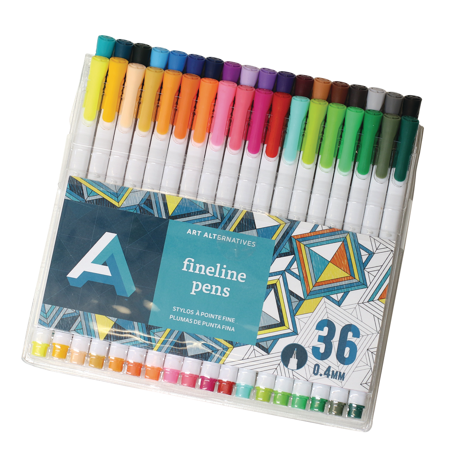 Art Alternatives Fineline Pen Set, 36-Color