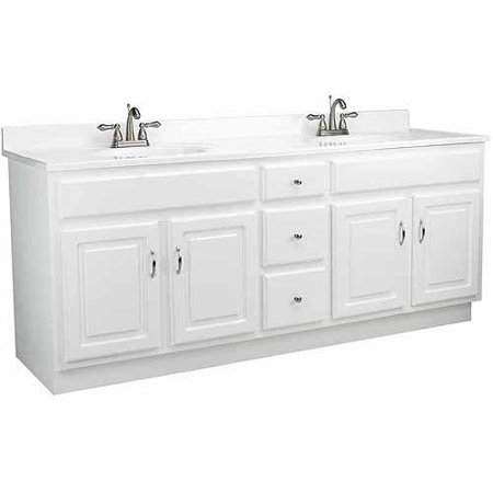 Design House Concord Vanity Cabinet With 4 Doors And 3 Drawers