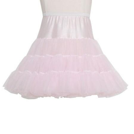 Pink Tea Length Bouffant Petticoat Baby Toddler Little Girls 12M-14 (Nylon Petticoats)