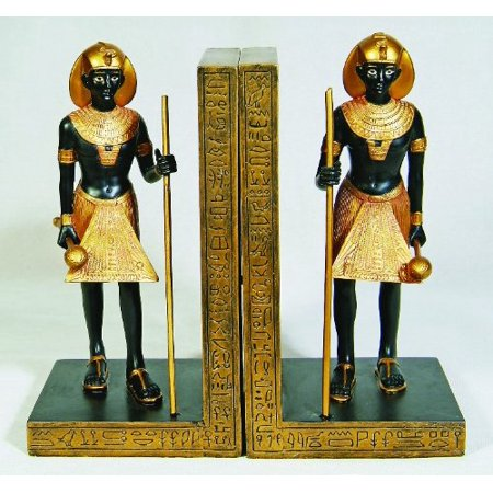 6 75 Inch Egyptian Mystical Guardians Embellished Bookends Set