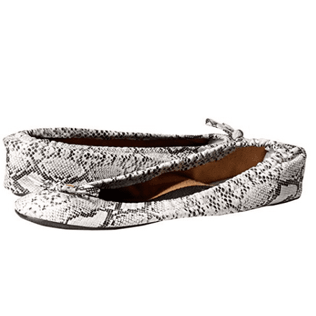 Snake Animal Print Foldable Ballet Flats Shoes w/ Carrying Case SMALL