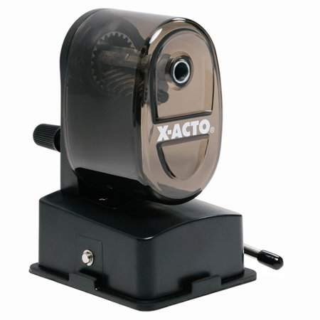 X-Acto Bulldog Vacuum Pencil Sharpener, Steel Cutter, Clear Plastic, - Nose Pencil Sharpener