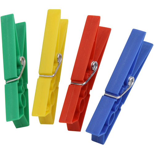 Honey Can Do Sturdy Plastic Clothespins, Multicolor (Pack of 200)
