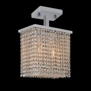 Worldwide Lighting W33753C10 Prism 2 Light Semi-Flush Ceiling Fixture