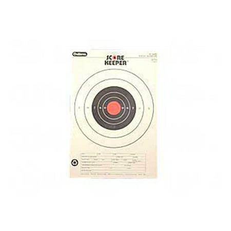 Champion Traps and Targets Orange Bullseye Scorekeeper Target, 25 Yard Pistol Slow Fire, 12pk ()