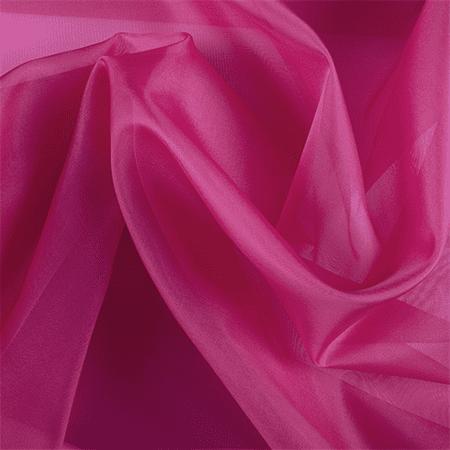 Fuschia Organza (Fuschia Silk Organza, Fabric By the)