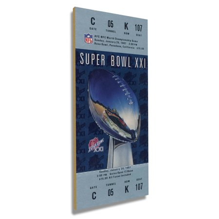 New York Giants Super Bowl XXI Commemorative Mini-Mega Ticket - No Size Super Bowl Xxi