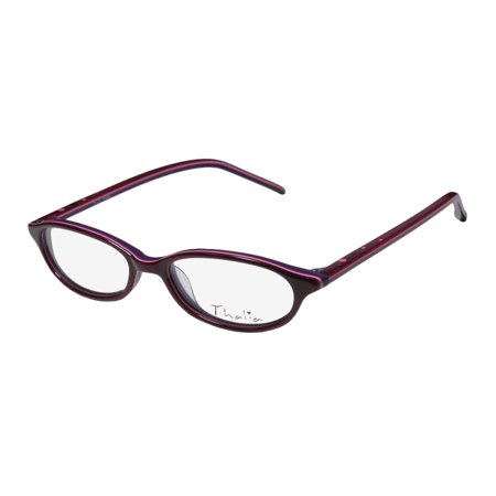 b3cb3a51622 New Thalia Angel Womens Ladies Cat Eye Full-Rim Berry   Purple Colorful  Glamorous Sleek Cat Eye Frame Demo Lenses 46-15-133 Eyeglasses Eye Glasses  ...
